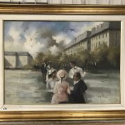 FRAMED OIL ON CANVAS OF GIORGIO FRENCH SCENE SIGNED ROCCA - 88CM X 65CM TO ...