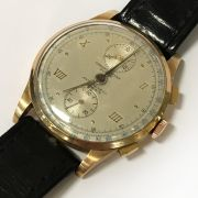 18CT GOLD CASED CHRONOGRAPH