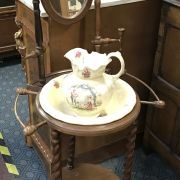 VICTORIAN WASHSTAND WITH JUG & BOWL