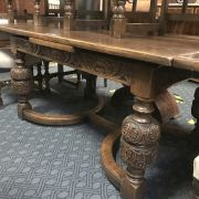 1930'S TABLE & EIGHT CHAIRS