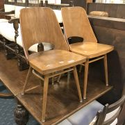 PAIR MID CENTURY CHAIRS BY THONET
