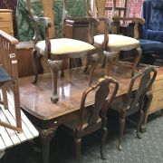 WALNUT DINING TABLE & SIX CHAIRS