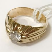 14CT YELLOW GOLD SINGLE STONE DIAMOND RING - APPROX 0.75CTS - SIZE N-O WITH...