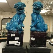 TWO FOO DOG BOOKENDS - 30CM HEIGHT