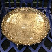 SILVER PLATED TRAY - 48CM DIAMETER