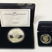 SILVER PROOF 30TH ANNIVERSARY CONCORDE COOKS ISLAND COIN & 1 OTHER SILVER C...