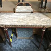 MARBLE TOP CONSOLE TABLE & MIRROR