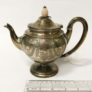 MID VICTORIAN HM SILVER TEAPOT - 16CM HEIGHT