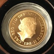 THE ROYAL MINT 2017 FULL SOVEREIGN IN PERFECT CONDITION & UNTOUCHED - BOXED...