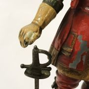 COLD PAINTED CAVALIER METAL FIGURE - POSSIBLY SHOP DISPLAY ITEM / CIGARETTE...