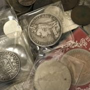COLLECTION OF COINS & BANKNOTES - SOME SILVER