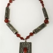 SILVER & AGATE NECKLACE