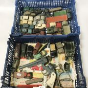 COLLECTION OF DINKY MODEL CARS WITH LEAFLET