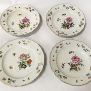 4 HAND PAINTED PLATES MEISSEN PLATE SIZE 24CM x 24CM APPROX.