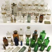 COLLECTION OF PHARMACY JARS (QTY. OF +30)