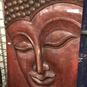 WOODEN HANGING BUDDHA PICTURE - 36 INCHES X 23.5 INCHES