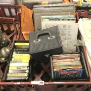 COLLECTION OF RECORDS MOSTLY EGYPTIAN, 8 TRACKS & 2 CASES FOR 45'S