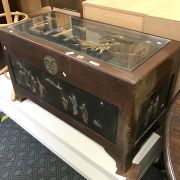 ORIENTAL CARVED TRUNK