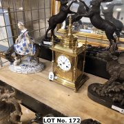 REGENCY 1880 BRONZE CLOCK WITH PORCELAIN DIAL BY HOWELL JAMES & C O LONDON ...
