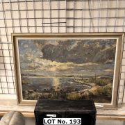 LARGE OIL PAINTING BY STARBERG - 78 CMS (H) X 107 CMS (W)