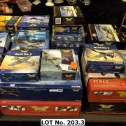 LARGE COLLECTION OF BOXED CORGI DIE CAST MILITARY AIRPLANES, TANKS ETC