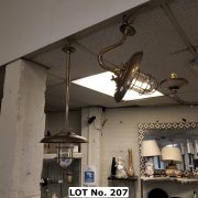 BRASS CEILING LIGHT FITTING - 70 CMS (H) WITH MATCHING WALL LIGHT