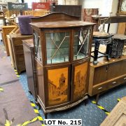 FRENCH INLAID DISPLAY CABINET