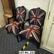 PAIR UNION JACK CHAIRS