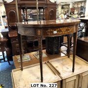 FRENCH INLAID CARD TABLE