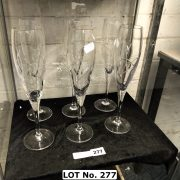 SET OF SIX WATERFORD FLUTES CHAMPAGNE GLASSES - 26 CMS (H)