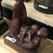 BRONZE ABSTRACT MOTHER & CHILD