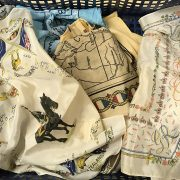 COLLECTION OF SILK HANDKERCHIEFS - MAINLY MILITARY