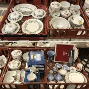 COLLECTION OF MAINLY ROYAL WORCESTER CHINAWARE INCL. ROYAL ALBERT & WEDGWOO...