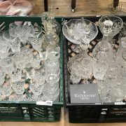 COLLECTION CRYSTAL GLASSWARE INCL. DECANTERS WITH 2 BOXED WATERFORD ITEMS