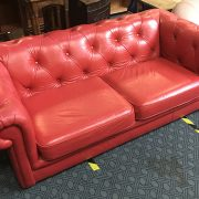 RED CHESTERFIELD SOFA