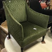 VICTORIAN GREEN LOW CHAIR